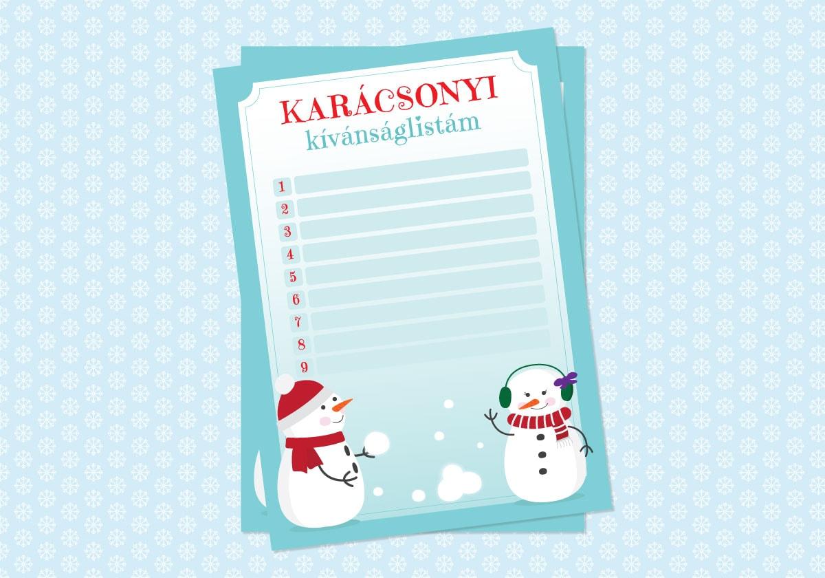 karácsonyi kívánságlista