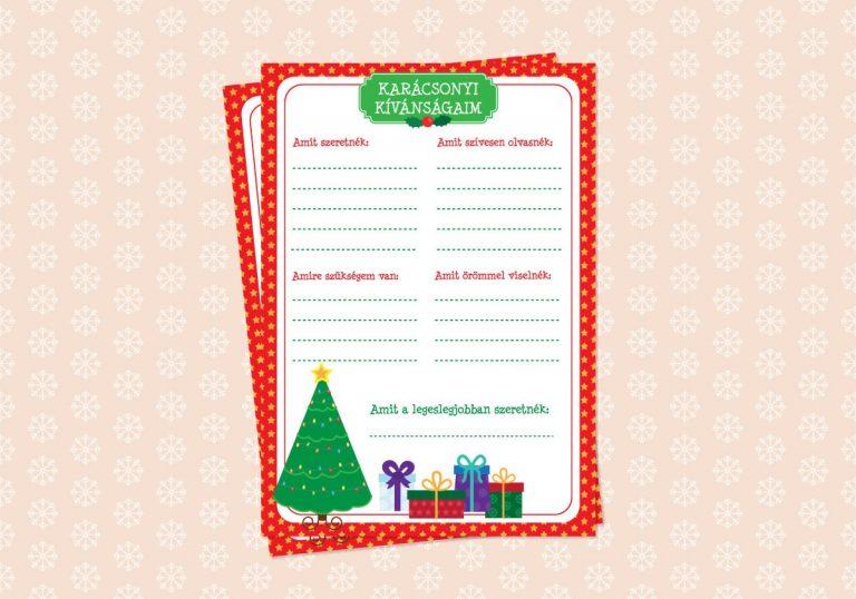 karácsonyi kívánságlista letölthető